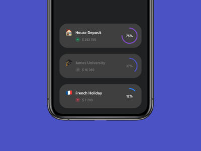 "App ""Dashboard"" Cards - Dark / Light"