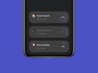 "App ""Dashboard"" Cards - Dark / Light"