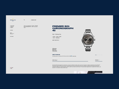 Breitling Premier - PDP shop minimal ecommerce landing design pdp page web watches watch grid ux ui website