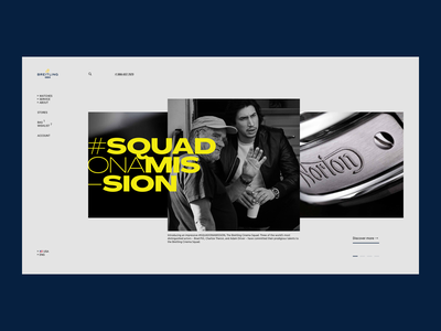 Breitling Home Page Musings cinema watch layout grid page website shop minimal ecommerce ux web landing watches design ui