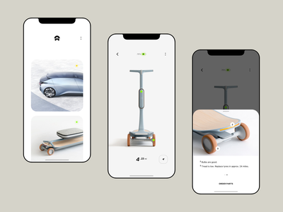 Nio - App ios14 14 control connect apple mobile interface electric car cars simple uiux smart minimal ios ux ui design concept clean