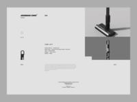 JOONGHO CHOI STUDIO - Website Design cane web whitespace website ux ui page minimal layout landing header cleaner grid vacuum design clean product