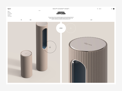 Dyson - Product Page whitespace product ui ux shop minimal website page landing web grid ecommerce dyson design clean