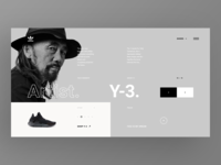 Adidas Originals Collaborations Website - Yohji