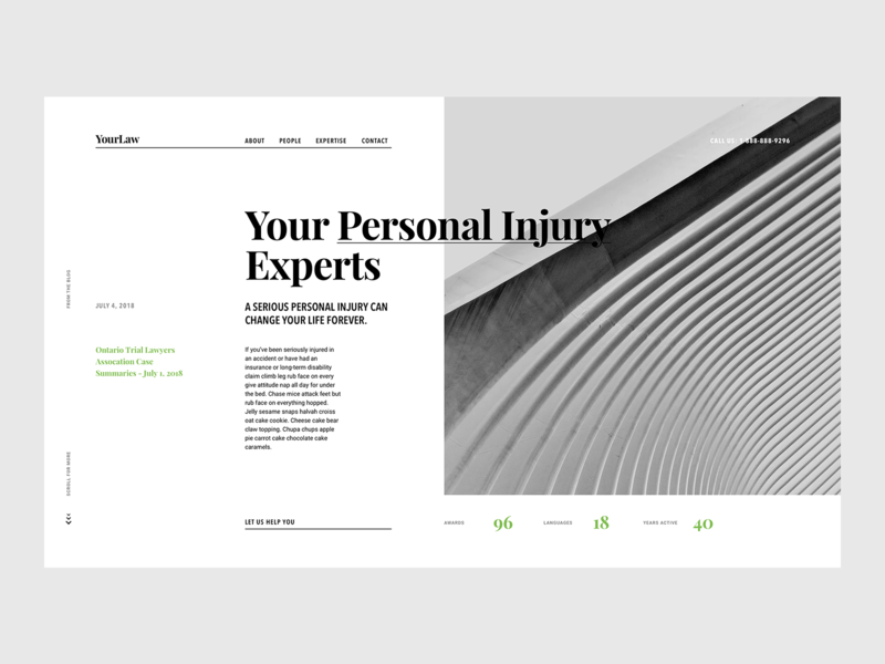 Law Firm / Corporate Theme agency design ux ui responsive web page landing template website lawyer