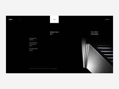 Dyson Featured Product Page - Desktop Website web ux ui tech shop premium minimalism minimal ecommerce design british