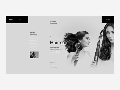 Dyson Products Landing Page - Desktop Website product web ux ui tech shop premium minimalism minimal ecommerce design british
