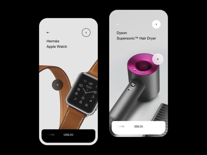Premium & Minimal E-commerce App ios14 14 ecommerce dyson interface hermes shop store mobile design ios watch apple minimalist ux ui