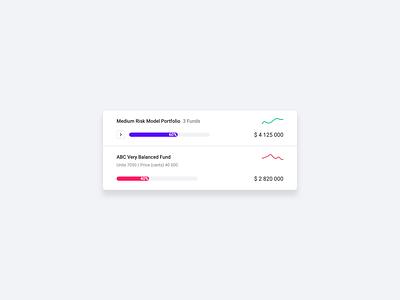 Animated Desktop Portfolio Component principle graph component investor funds money save invest investing portfolio website finance fintech animation design web ux ui