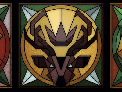 Game of Thrones Stained Glass - Baratheon geometric low-poly low poly lowpoly nerd church stag a song of ice and fire branding fantasy vector polygon poly logo design illustrator stained-glass stained glass baratheon game of thrones