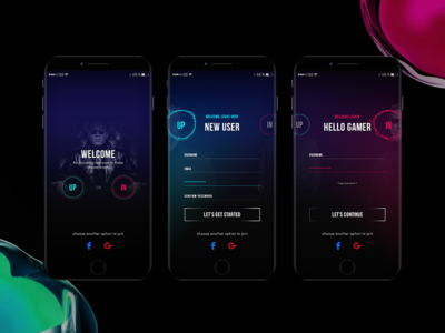 Daily UI - Sign up/in