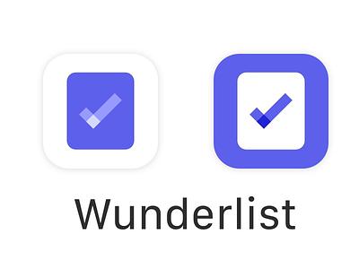 Wunderlist App icon redesign wounderlist to-do task status reminder meeting list completed calendar alarm