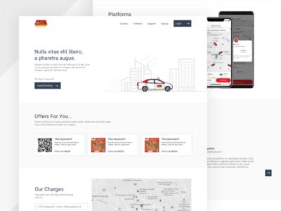 RedTaxi - Website redesign