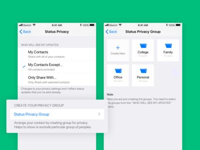 Case Study - WhatsApp Status privacy group