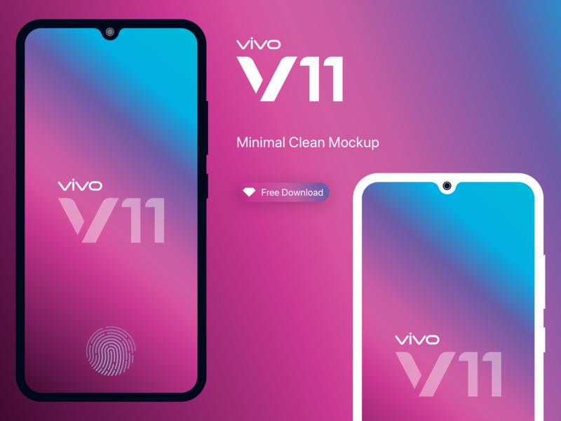 Vivo V11 Pro - Mobile Minimal mockups by Satheesh Kumar