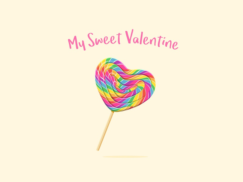 Heart Shaped Lollipop candy sweet heart valentines day lollipop love