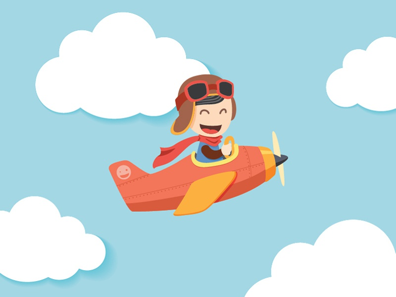 Pilot Boy  illustration character children kid boy pilot