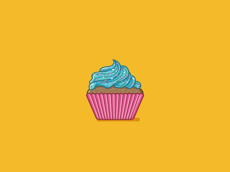 Sweet Cupcake sweet illustration vector snack food cupcake