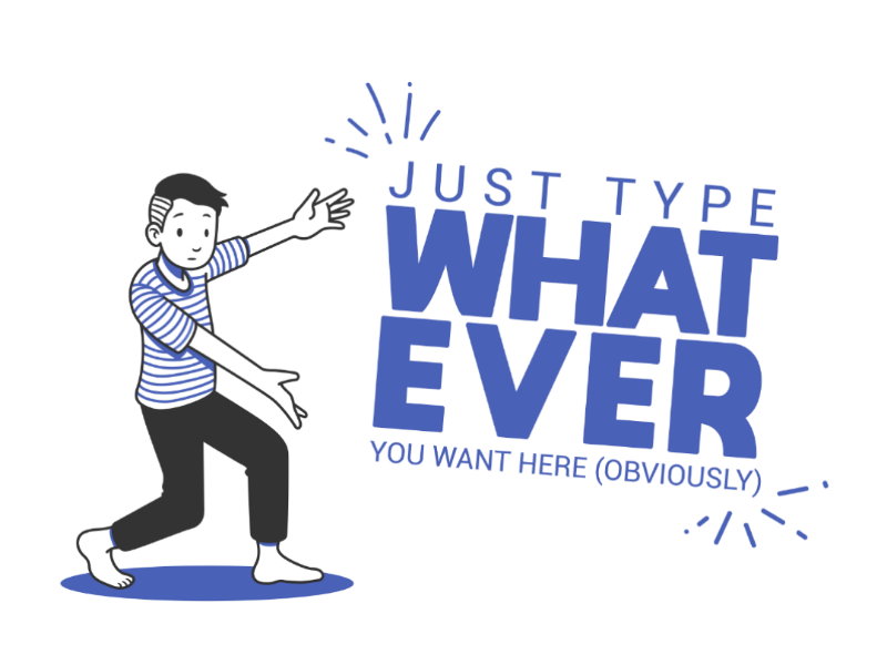 Ta Daa people man line art illustration vector character design