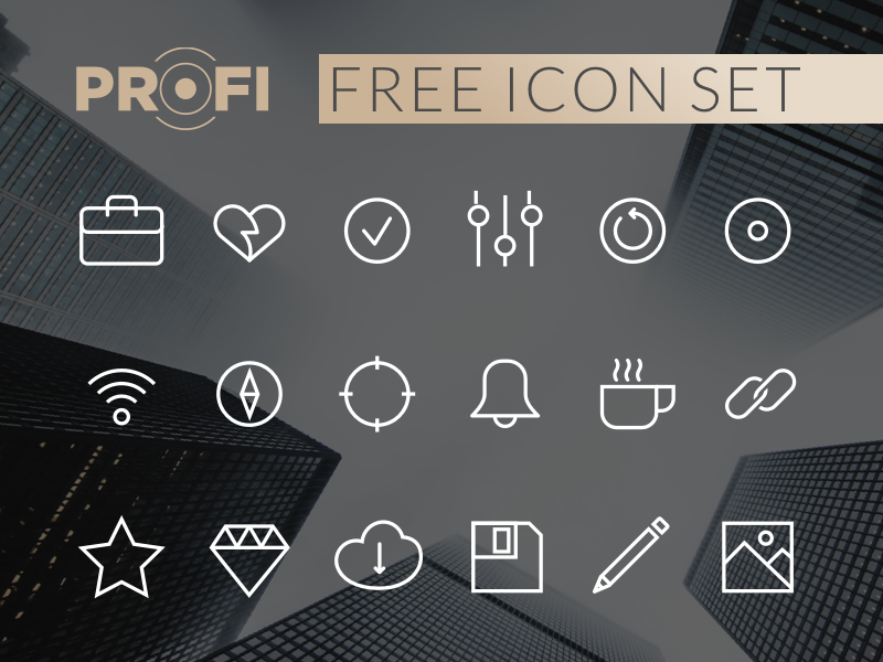 PROFI Free Icon Set davidgor iconjar android ios web ui design vector icon freebie