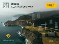 BROOKS ILLUSTRATIONS FREE PACK