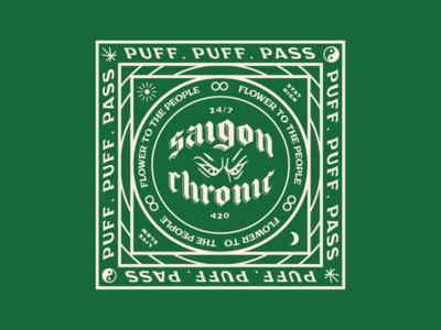 Saigon Chronic Bandana chronic bandana weed cannabis 420