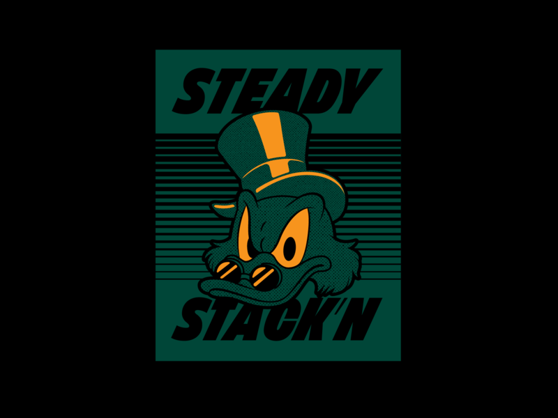 Steady Stack'n type cartoon duck tales mcscrooge lettering typography