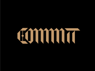Commit blackletter commit hand lettering custom type type typography lettering custom lettering