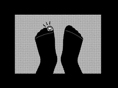 Monday dots halftone holes socks monday