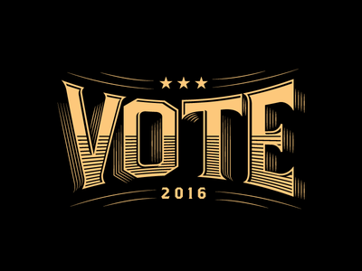 Vote  typography custom lettering lettering election 2016 vote