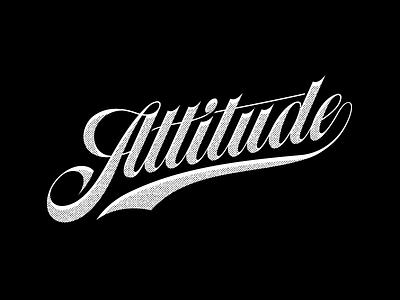 Attitude swash typography hand lettering script lettering attitude
