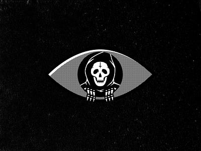 See You Soon aintbad grim reaper skeleton skull eye see death