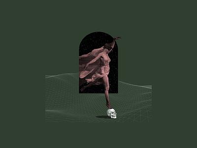 Femme Fatale concept surrealism surreal skull digital collage collage