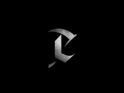 Scythe logo design logo blackletter sickle reaper death