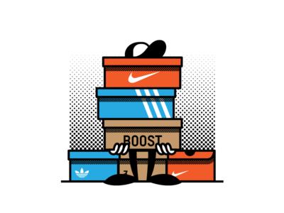 Hypebeast™ illustration adidas yeezys nike shoes cartoon sneaker hypebeast