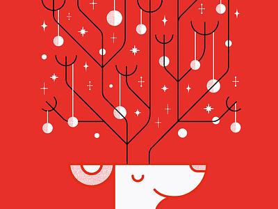Happy Holidays! cheers festive christmas card reindeer card holidays happy