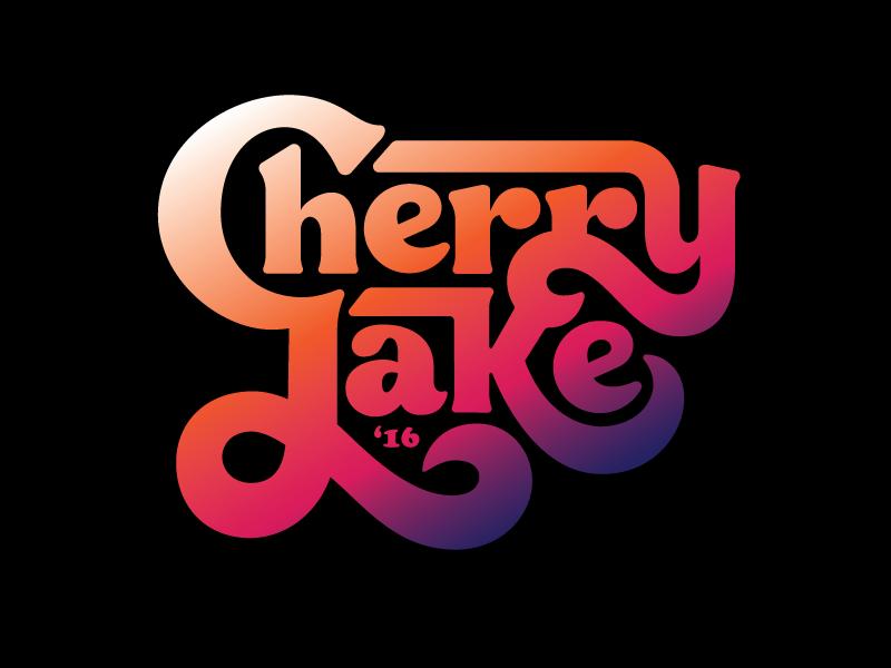 Cherry Lake™ logo logotype identity branding script thick type 70s type custom lettering hand lettering typography groovy type lettering