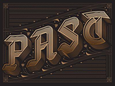 PAST editorial slack channels ornate custom lettering lettering typography