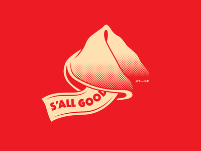 S'all Good... vietnamese chinese restaurant illustration branding cookie fortune fortune cookie all good sf kim thanh