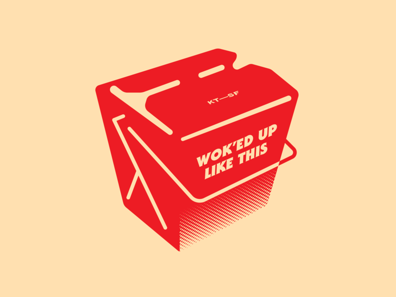 Wok'ed Up Like This wok sf san francisco vietnamese branding food takeout chinese takeout restaurant kim thanh