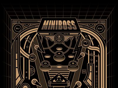 MINIBOSS Pinball california san jose game video game restaurant arcade bar arcade boss mini miniboss