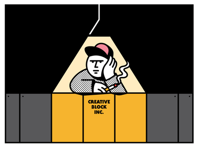 Creative Block, Inc. halftone illustration pencil creative block creative block