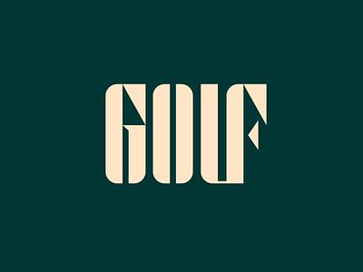 Golf negative space branding identity golf card golf club custom lettering lettering logotype logo golf