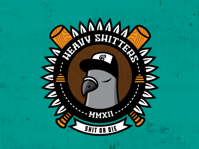 Heavy Shitters san francisco pigeon sf giants funny illustration