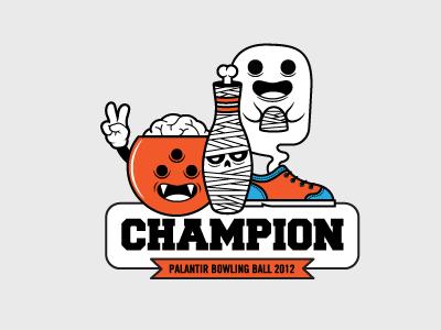 Bowling Champ 2 fun illustration halloween bowling