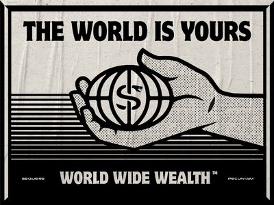 The World is Yours texture halftone illustration world wide wealth snake scarface tony montana the world is yours