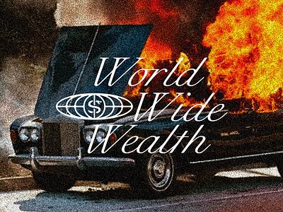 World Wide Wealth snake identity branding typography script world wide wealth