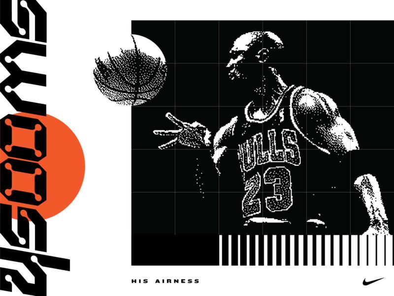 Swoosh lettering ball basketball type typography air jordan jordan swoosh nike