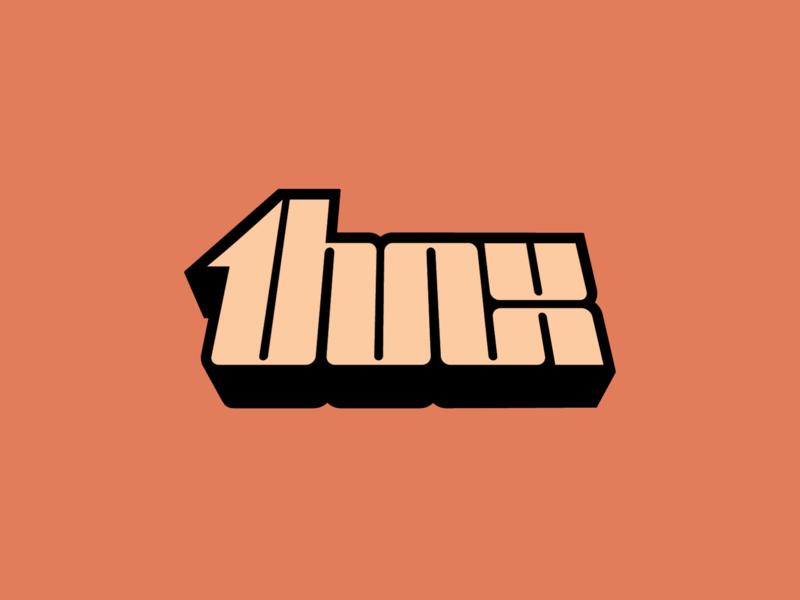 THNX Logo blaxploitation 70s logotype design logo identity branding dj music lettering typography logotype