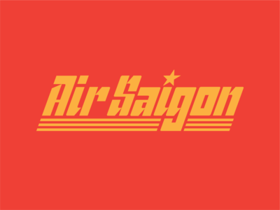 Air Saigon™ air logo logotype branding airline airplane vietnam khai sang display type saigon